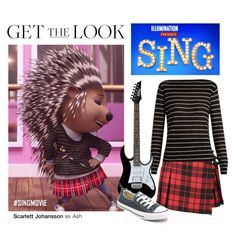 """""""Get the Look: Ash in Sing"""" by polyvore-editorial ❤ liked on Polyvore featuring Burberry, Vince, Converse, ash and singmovie"""