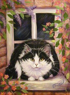 Window Cat by Lynn Risor.