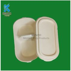 Biodegradable natural fiber pulp bagasse fruit container wholesale