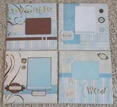 Premade 12x12 Wedding Scrapbook pages 4 pages total by mesa219815   9 99Custom Made Wedding Scrapbook Album  YOU CHOOSE COLORS  . Premade Wedding Scrapbook. Home Design Ideas