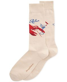 Tommy Bahama In A Pinch Lobster Crew Socks