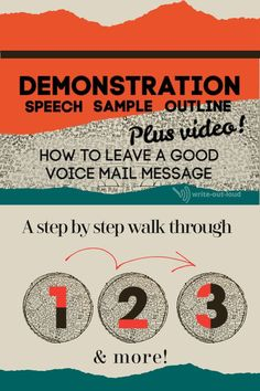 A completed step by step outline of a demonstration speech, with video (audio   slides). Excellent resource for teachers.