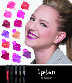 Lipstains that don't come off when you eat, drink, or kiss.  Gorgeous colors from Younique