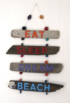 Inspirational Driftwood Art Hanging Sign Eat by PeaceLoveDriftwood, $34.00