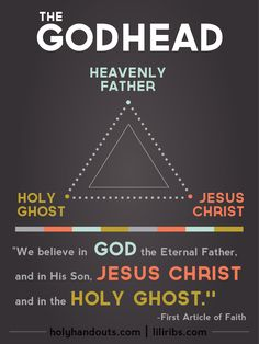 Handout for the New LDS Youth Curriculum. January's Topic: The Godhead. See more at holyhandouts.com | liliribs.com.
