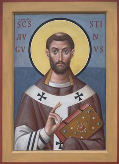 икона блаженного Августина, епископа Иппонийского архимандрит Зенон