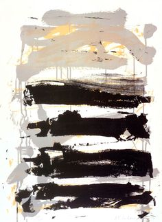 Champs (Black, Gray and Yellow), 1991–92. Color lithograph, 30 x 22 1/8 inches. © Estate of Joan Mitchell.