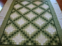 Irish Chain Quilt with Celtic Knots
