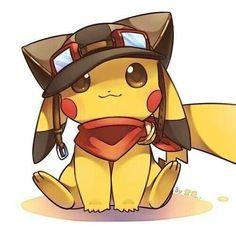 #pikachu #cute #yellow #small #red #anime #pokemon