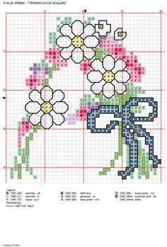 Alfabeto piccoli bouquets: A