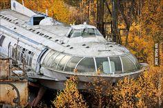 Abandoned Soviet hydrofoil - 9GAG