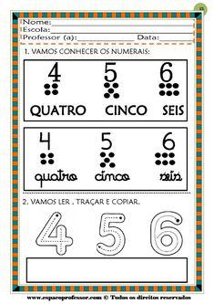 50 atividades de matemática  educação infantil Professor, Yuri, Montessori, Pasta, Mother's Day Activities, Fun Math, Special Education, School