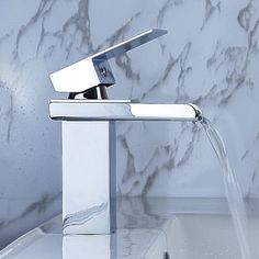 Amazon.com: LightInTheBox Single Handle Waterfall Bathroom Vanity Sink Faucet, Chrome: Home Improvement