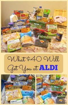 What Will $40 Will Get You at ALDI -- Here's how I was able to stretch a limited grocery budget at ALDI today! Also, check out the news about ALDI accepting credit.| Grocery shopping on a budget | ALDI tips