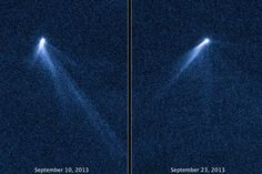 Located between the orbits of Mars and Jupiter, newly identified asteroid called P/2013 P5 is posing as a comet, with not one but six dust tails trailing behind it. Between Hubble's first look at the asteroid on Sept. 10 and then on Sept. 23, the object looked completely different, with an entirely new tail structure. - Asteroid P/2013 P5 NASA, ESA, and D. Jewitt (UCLA)
