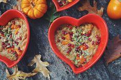 Pumpkin Pie Chia Pudding with Persimmon: vegan, fall, winter, sweet, rare