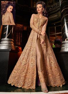 Looking to buy Anarkali online? ✓ Buy the latest designer Anarkali suits at Lashkaraa, with a variety of long Anarkali suits, party wear & Anarkali dresses! Trajes Anarkali, Anarkali Lehenga, Indian Gowns, Pakistani Dresses, Indian Outfits, Bridal Anarkali Suits, Bridal Sarees, Fashion Pants, Fashion Dresses