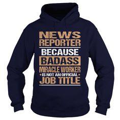 NEWS REPORTER T-Shirts, Hoodies. GET IT ==► https://www.sunfrog.com/LifeStyle/NEWS-REPORTER-97180250-Navy-Blue-Hoodie.html?id=41382