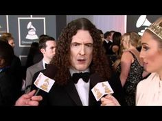Weird Al Yankovik on the Red Carpet at 54th GRAMMY Awards