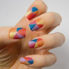 Textured nail polish nail art...love it