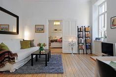 Gentil Swedish 58 Square Meter Apartment Interior Design With Open Floor Plan    DigsDigs