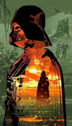 A beautiful and captivating art piece by an unknown artist! #StarWars