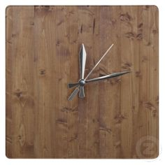 Rustic Barn Wall Made of Old Wooden Brown Planks Clocks