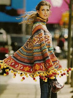 Crochet Poncho: http://outstandingcrochet.blogspot.com/search/label/Coat