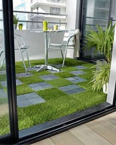 "Artificial Grass Series PP 12"" x 12"" Plastic Interlocking Deck Tiles in Green"