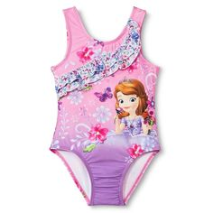 f711c78d5c Disney Princess Toddler Girls  Sofia the First One Piece Swimsuit - Pink  2T