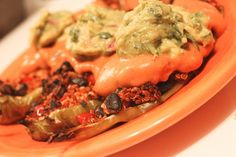 Meatless stuffed hatch peppers