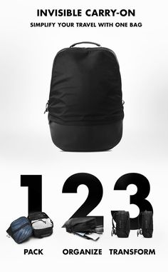 The perfect 2-in-1 backpack for one-bag travel.