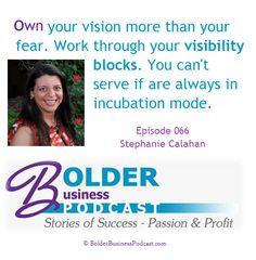 Aprille Janes interviewed me on the Bolder Business Women Podcast and we talked about building a successful business built around who you are.
