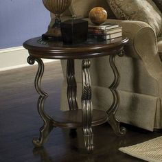 Have to have it. Riverside Ambrosia Round End Table - $389.25 @hayneedle
