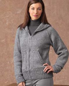 "Knitting Patterns Jacket Optional Knit Jacket, free pattern from Bernat. The ""optional"" is hood or collar. Knit Cardigan Pattern, Hoodie Pattern, Crochet Jacket, Sweater Knitting Patterns, Jacket Pattern, Knit Jacket, Crochet Patterns, Knitting Sweaters, Knitting Blogs"