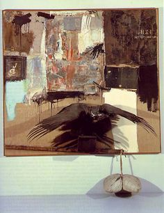 Canyon by Robert Rauschenberg.Saw this at Metropolitan Museum of Art NYC Neo Dada, Modern Art, Contemporary Art, Robert Rauschenberg, Painter Artist, Assemblage Art, Conceptual Art, Collage Art, Collages