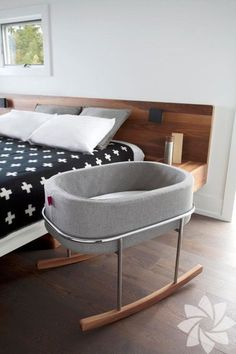 Rockwell Bassinet for Monte Design by Ralph Montemurro Related posts:VitaliSpa Hausbett WIKI Zaun Weiß Kinderbett Kinderhaus Kinder Bett Ho. Baby Bedroom, Nursery Room, Nursery Themes, Baby Bedding, Grey Baby Rooms, Bedroom Wall, Bedroom Ideas, Bedroom Decor, Room Baby