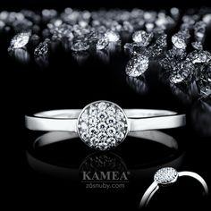Zásnubný prsteň Diamond Collection 2015, z bieleho 14 karátového lesklého zlata, v ktorom je vsadených 19 briliantov o priemere 1,2mm. Možnosť vyhotovenia v žltom aj v červenom prevedení a v každej veľkosti. Bangles, Bracelets, Jewelry, Fashion, Moda, Jewlery, Jewerly, Fashion Styles, Schmuck