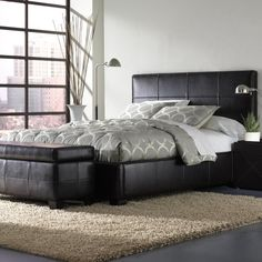 Modus Furniture LU08F4C Upholstered Lucca Storage Platform Bed Full Chocolate Leather ** You can find out more details at the link of the image.