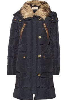 MICHAEL Michael KorsCire faux fur-trimmed quilted down coat