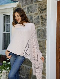 Fantasy - Wraps, Shawls and Scarves - This very special cashmere shawl looks as if it was made for you stitch by stitch