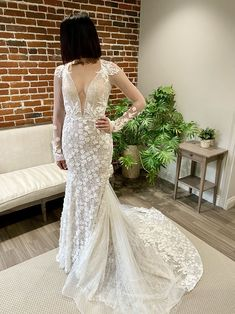 We got the chance to see this, amongst many other beautiful gowns, during our trunk show in January. We cannot wait to finally get some of these gowns in-store for good!