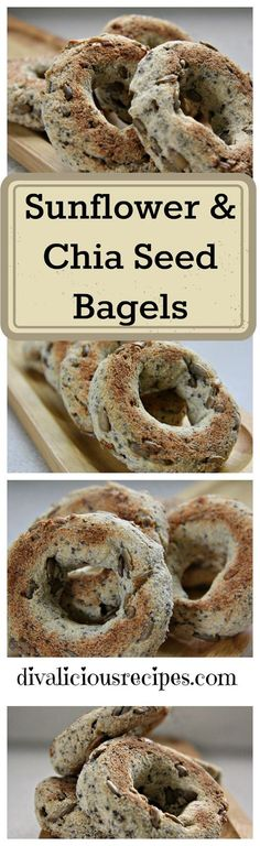 Sunflower & Chia Seed Bagels1/2 cup (56g) coconut flour 2 tablespoons (28g) butter, melted 1 egg 1/2 teaspoon baking powder 1 tablespoon (9g) psyllium husk powder 1 cup boiling water 1 tablespoon (10g) chia seeds 2 tablespoons (30g) sunflower/pumpkin seeds
