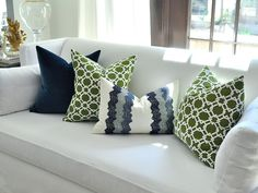 """20""""sq. KEENLAND pillow cover in green."""