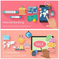 Internet Banking and E-commerce by robuart on Creative Market