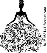 Silhouette Illustrations and Clipart. Silhouette royalty free illustrations, and drawings available to search from thousands of stock vector EPS clip art graphic designers. Silhouette Cameo, Silhouette Projects, Dress Silhouette, Woman Silhouette, Silhouette Vector, Wedding Silhouette, Silhouette Pictures, Princess Silhouette, Flower Silhouette