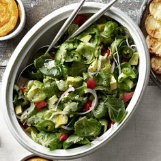 Marvin Woods's Brussels Sprouts, Red Pepper, and Avocado Salad Recipe - Country Living