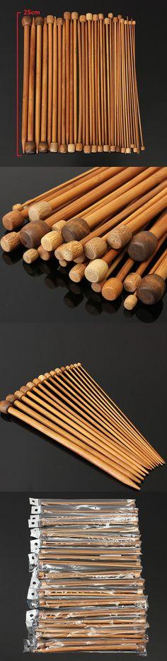 US$7.12 36pcs Bamboo Knitting Needles Sweater Scarf Needlework Accessories