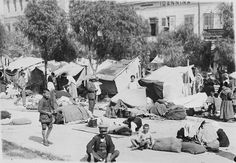 Refugees from Smyrna in Ioanina, Greece Old Pictures, Old Photos, Vintage Photos, Greece Photography, Vintage Photography, Greek History, In Ancient Times, Athens Greece, Crete
