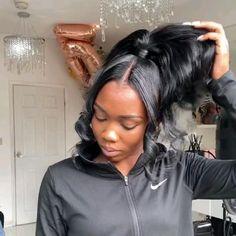 Hair Ponytail Styles, Black Girl Braided Hairstyles, Sleek Ponytail, Baddie Hairstyles, Black Women Hairstyles, Hair Styles, Natural Black Hairstyles, Two Ponytail Hairstyles, Ponytail Wig